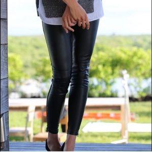 Banana Republic Black Skinny Sloan Faux Leather